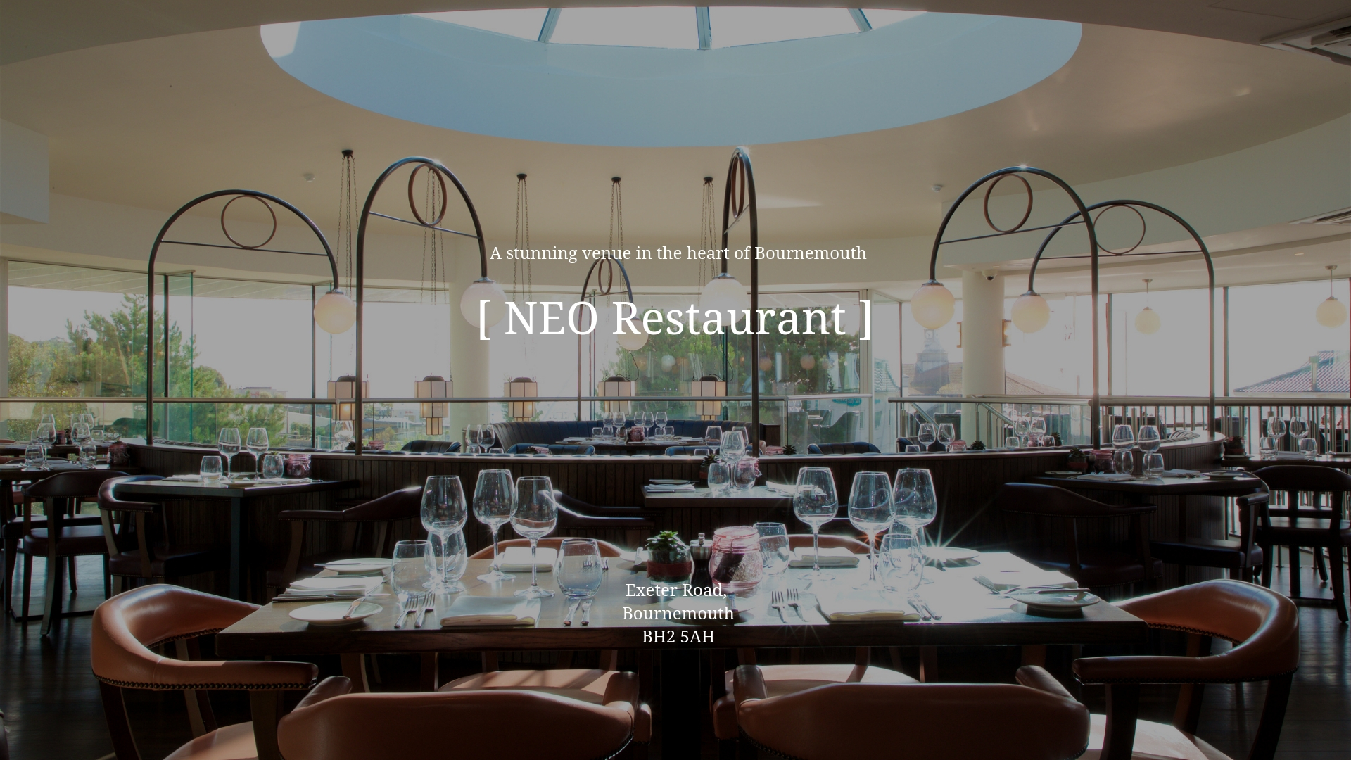 NEO RESTAURANT BOURNEMOUTH – GRAND CAFÉ: COCKTAILS: DINING