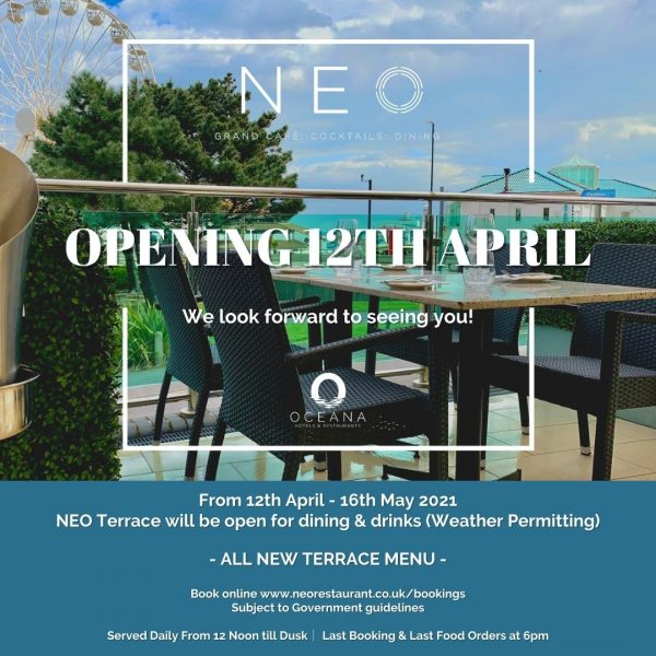 NEO Terrace Opening 12th April